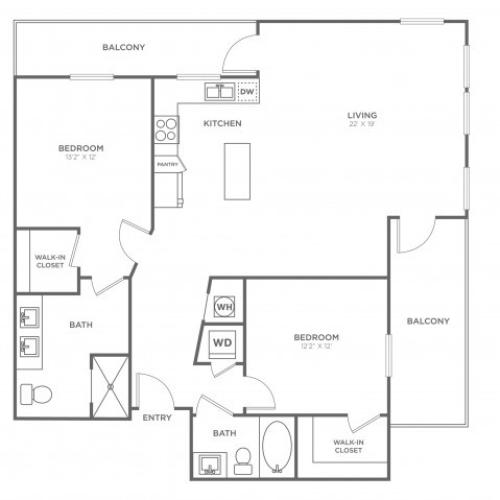 BC5 | 2 bed 2 bath | from 1358 square feet