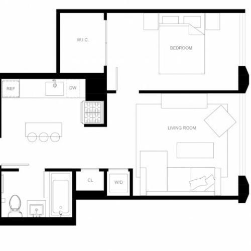 1 bed 1 bath A3-R