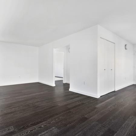 Large living room with wood like floors