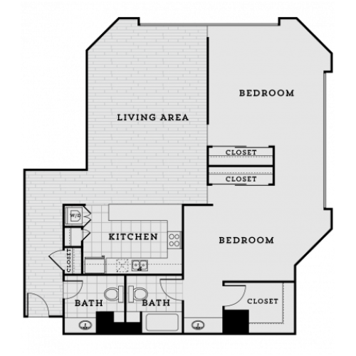 PB3R-Tailored Two bedroom One and a half bathroom