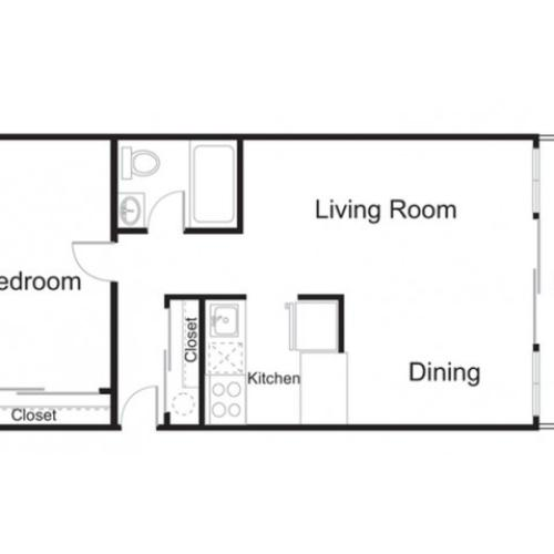 slb4-R 1 bed 1 bath