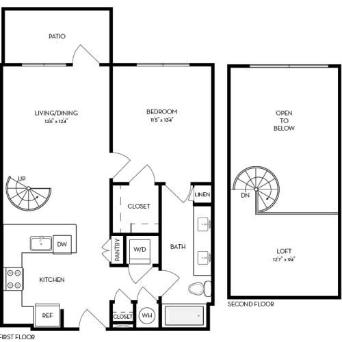 A3 | 1 bed 1 bath | from 839 square feet