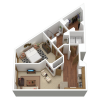 A2r | 1 bed 1 bath | from 827 sq. ft.