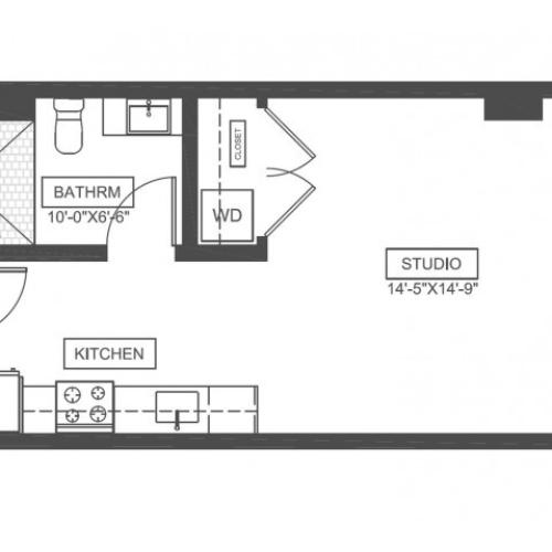 S2 | Studio1 bath | from 416 square feet