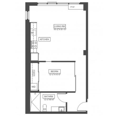 A2D | 1 bed 1 bath |697 sq ft