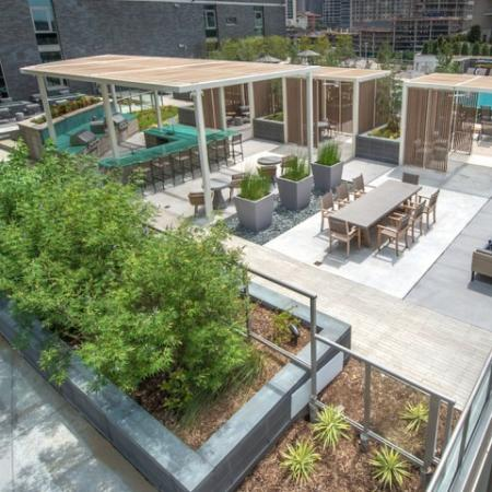 rooftop seating and barbecue