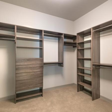 deluxe shelving in closets