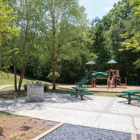 Playground with view of grilling area
