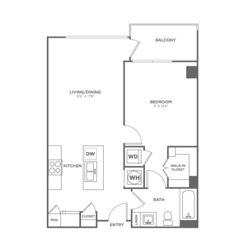 A10 | 1 bed 1 bath | from 693 square feet