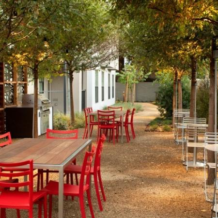 Outdoor Seating Areas With Tables