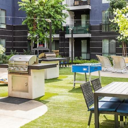 BBQ and Courtyard Area