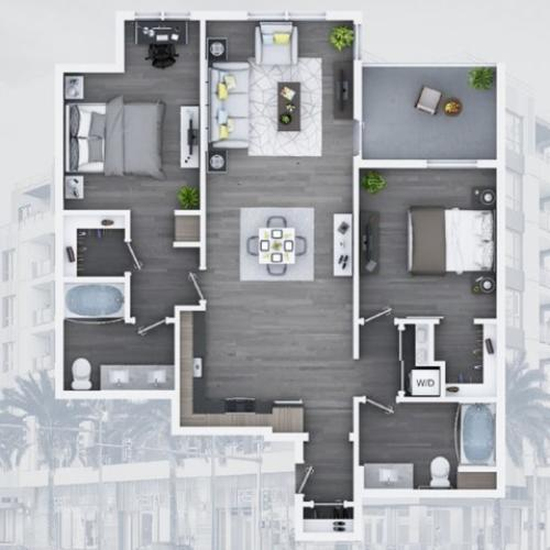 2 bedroom C11 1158 Sq ft