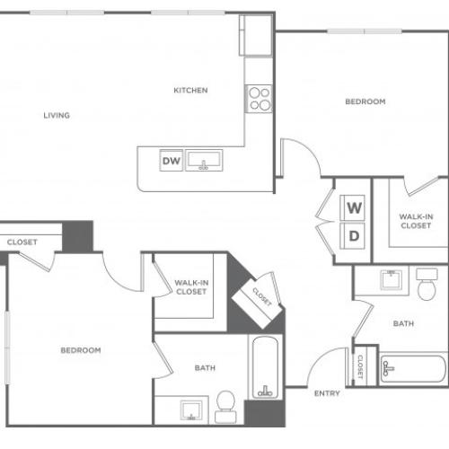 Sycamore West | 2 bed 2 bath | from 1142 square feet