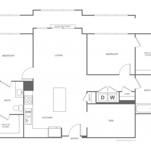 Laurel West | 2 bed 2 bath | from 1286 square feet