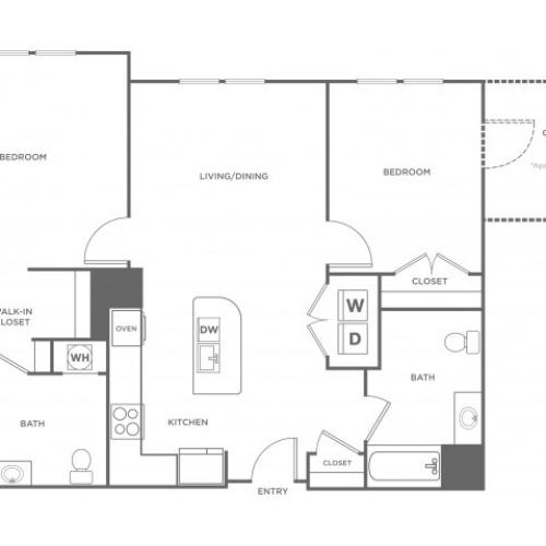 Spruce | 2 bed 2 bath | from 1087 square feet