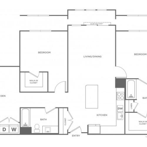 Hickory West | 2 bed 2 bath | from 1102 square feet