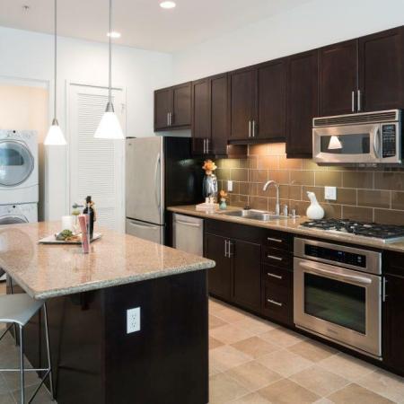 Kitchen + Washer and Dryer