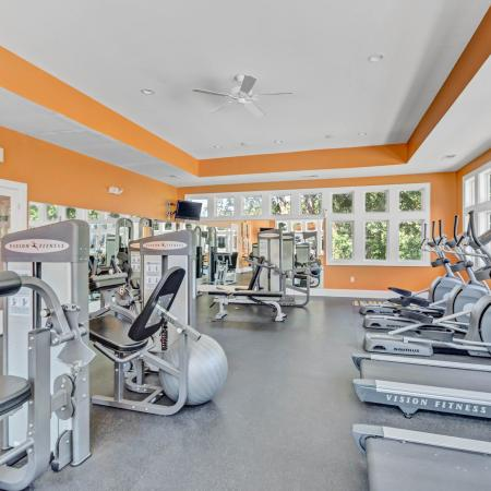 Fitness Center Treadmills and Bikes