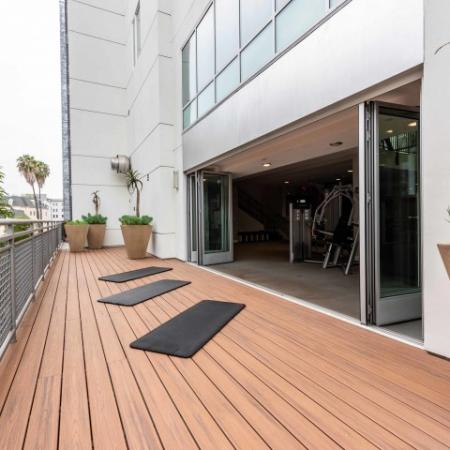 Exercise Deck with Yoga Mats