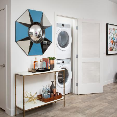Entry way with laundry closet