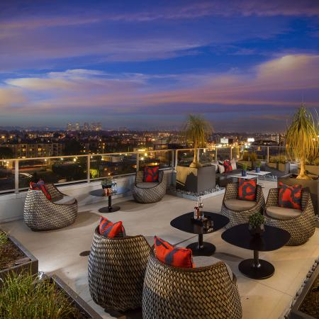 Rooftop lounge area