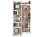 2 bed 2 bath | 1133 sq. ft. 3D