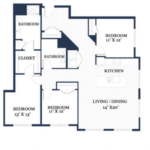 Oak East | 3 bed 2 bath | from 1550 square feet