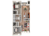 2 bedroom 2 bath | 1083 sq.ft 3D