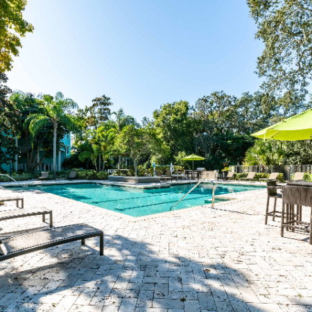 Sparkling Pool and seating