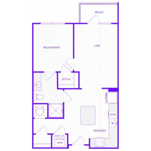 The Lewis| 1 bed  1 bath | 749 sq ft