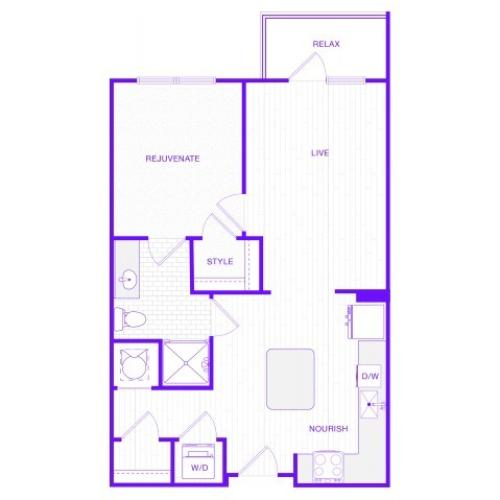 The Lewis | 1 bed  1 bath | 759 sq ft