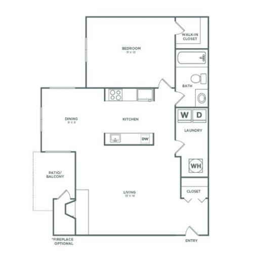 A1R Birch Reno | 1x1 | 736 sq ft