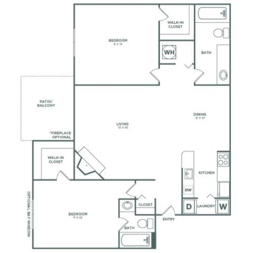 B2 Maple | 2 x 2 | 935 sq ft
