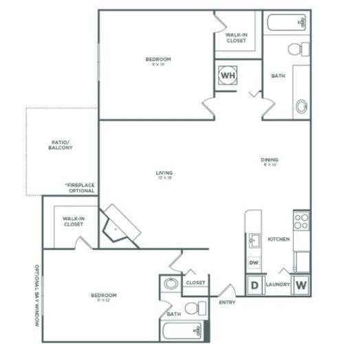 B2R Maple RENO | 2 x 2 | 935 sq ft
