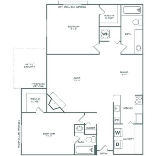 B3 Spruce | 2 x 2 | 983 sq ft
