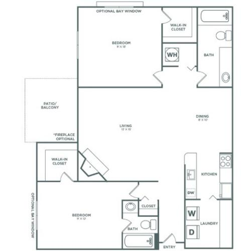 B3R Spruce Reno | 2 x 2 | 983 sq ft