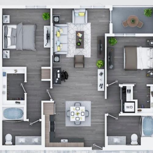 2 bedroom C9 1115 Sq ft