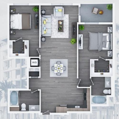 2 bedroom C12-A 1190 Sq ft