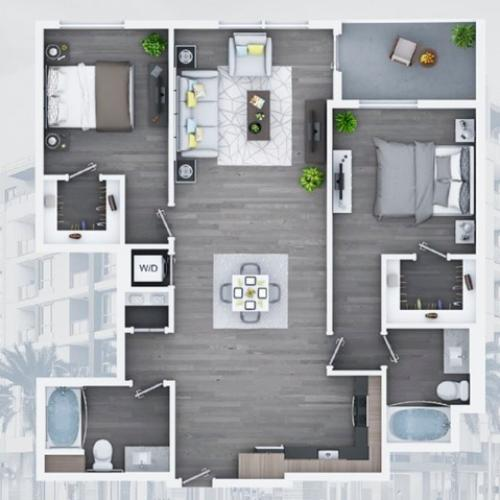 2 bedroom C12-B 1191 Sq ft