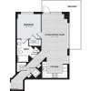 A3B | 1 bed 1 bath | from 767 square feet
