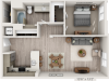 A3 | 1 bed 1 bath | from 857 square feet