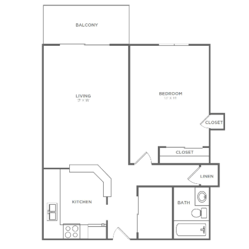 1 Bedroom 1 Bathroom A2r | from 800 sq ft