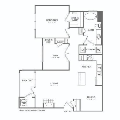 A3 Sophisticated | 1 bed 1 bath | from 954 square feet