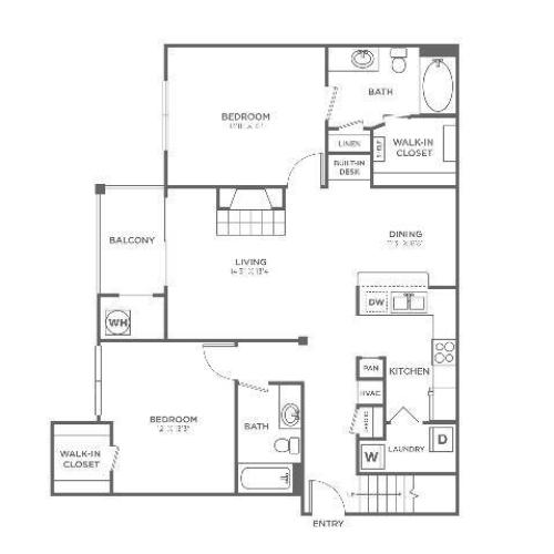 B3 Sophisticated | 2 bed 2 bath | from 1171 square feet
