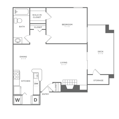 The Ashcroft Renovated | 1 bed 1 bath | 700 Sq ft