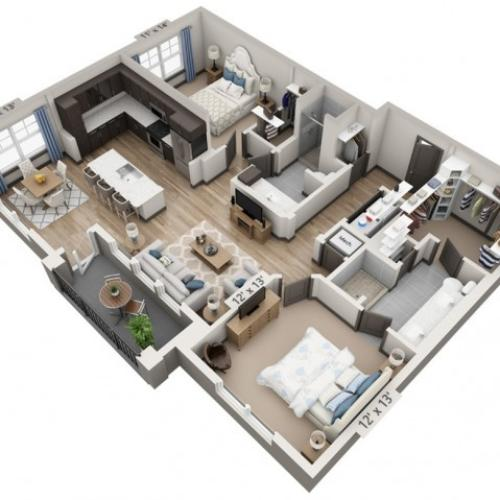 Blanco 1215SF | 2 bed 2 bath | from 1215 square feet