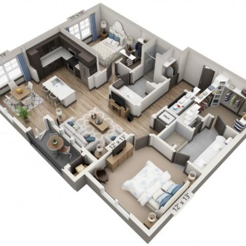 Blanco 1164SF | 2 bed 2 bath | from 1164 square feet