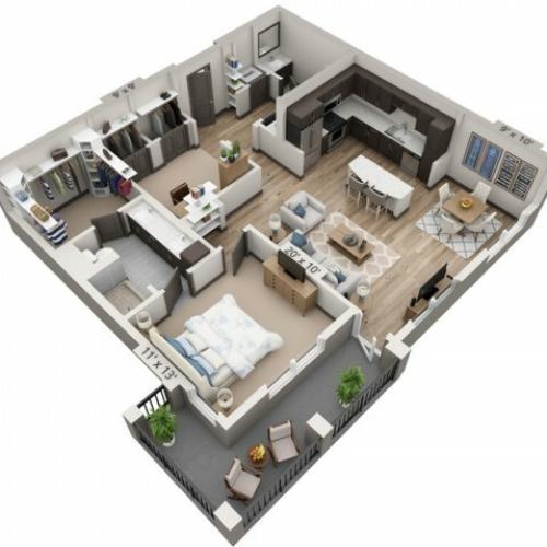 Medina 1064SF | 1 bed 1 bath | from 1064 square feet