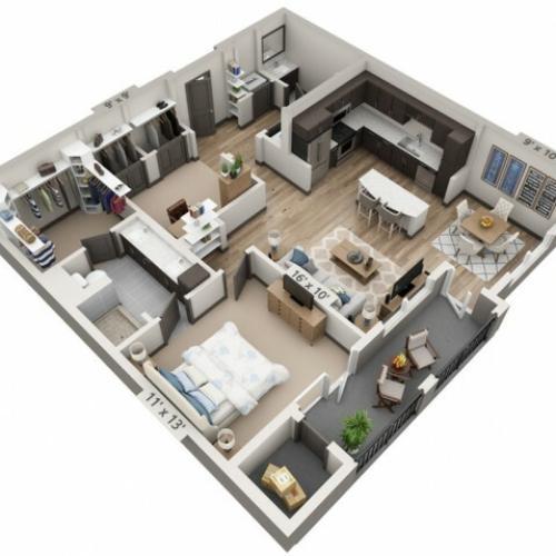 Medina 1024SF | 1 bed 1 bath | from 1024 square feet