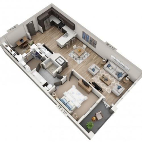 San Marcos | 1 bed 1 bath | from 972 square feet
